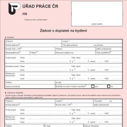 Formulář: Hmotná nouze 2013 - doplatek na bydlení