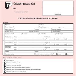 Formulář: Hmotná nouze 2013 – mimořádná okamžitá pomoc