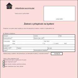 Formulář: Příspěvek na bydlení 2013