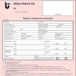 Formulář: Hmotná nouze 2013 – příspěvek na živobytí