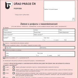 Formulář: Sociální dávky 2013 - Podpora v nezaměstnanosti